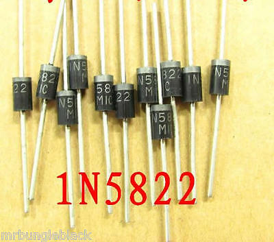 5pcs 1N5822 3A 40V Schottky Diode DO-201AD through hole, US Seller