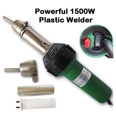 1500W High Quality Plastic Hot Air Welder + Tubular Nozzle + Spare Heater