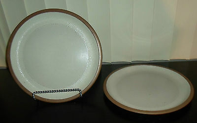 "(2) Midwinter HOPSACK  10 1/2"" Dinner Plates   England"