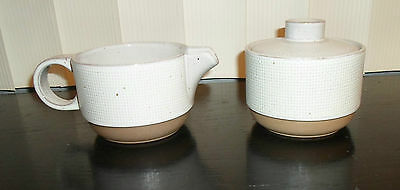 Midwinter HOPSACK Cream and Sugar Bowl England