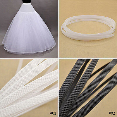 5 Meters Covered Poly Boning For Corsets Gowns Bra Cover Cap White Black Cotton