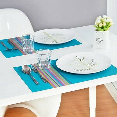 New Colorful Placemats Tableware Bowl Place Mat Kitchen Dining Table Coasters