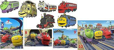 10 Chuggington Vinyl Wall Stickers 3 Sizes A6 A5 A4