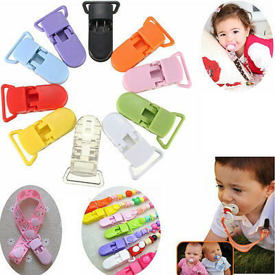 5/10/20pcs Plastic Suspender Pacifier Clips Soother Dummy Bib Paci Toy Holder KK