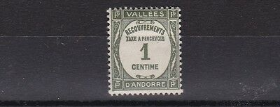 French Andorra 1935 S G Fd82 1C Grey Olive   M / H