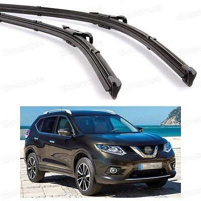 "24"" 16"" Front Windshield Wiper Blade Bracketless for Nissan X-Trail 2014-2016 15"