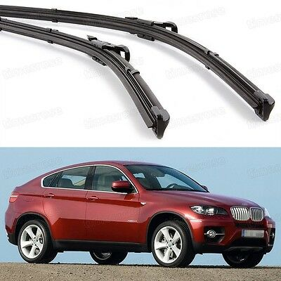 "24"" 20"" Car Front Windshield Wiper Blade Bracketless for BMW X6 2009-2014 E71"