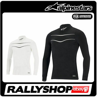 Alpinestars RACE Long Sleeve Top FIA underwear S M L XL XXL Black White Tuning