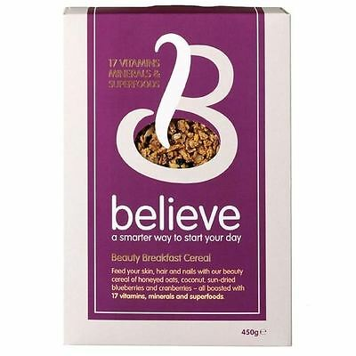 Believe Beauty Cereal With 17 Vitamins & Superfoods For Skin, Hair & Nails 450g