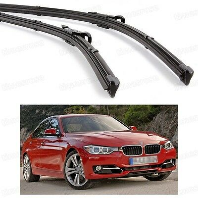 2Pcs Car Front Windshield Wiper Blade Bracketless for BMW 3-Series 2010-2016 F30