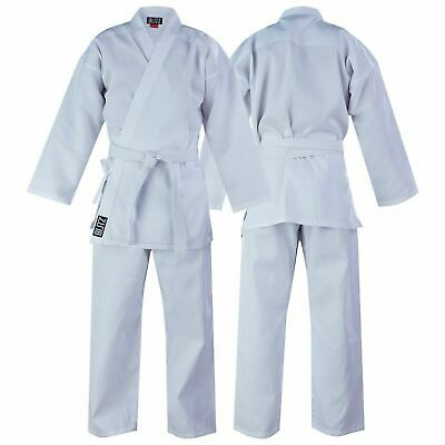 Blitz Childrens Lightweight Polycotton White Karate Suit Gi Free White Belt