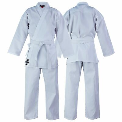 Childrens Polycotton White Karate Suit Gi with Free White Belt Only £11.19