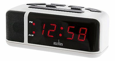 Acctim 15082 Adelphi Red LED Mains Extra Loud Alarm Clock