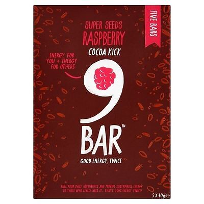 Wholebake 9Bar Gluten Free Indulge Cocoa & Raspberry Bars 5 x 40g