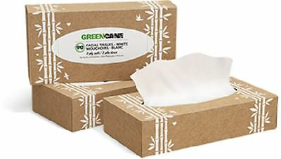 Greencane Paper 2 Ply Facial Tissues (90 Sheets) (Pack of 24)