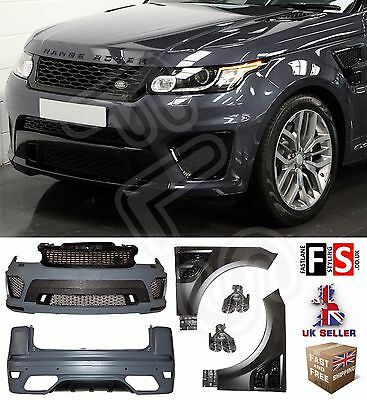 New Shape 2014 Range Rover Sport Svr Style Bodykit Conversion Front Rear Bumper