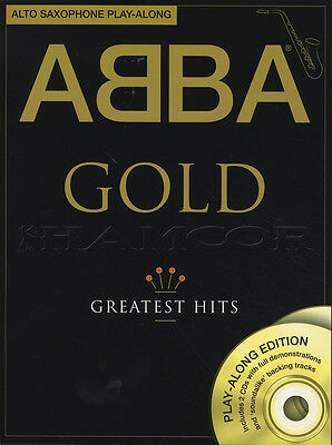 ABBA Gold Alto Saxophone Play-Along Sheet Music Book with CD Learn How To Play