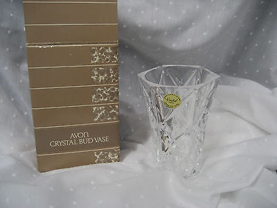 Avon crystal bud vase France genuine lead crystal in original box