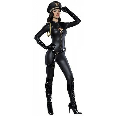 8851ea8382e DOMINATRIX COSTUME SEXY Military General Outfit Adult Halloween Fancy Dress