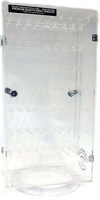 Acrylic display case 9x7 Hooks w/ lock and turntable(Business Address Only)