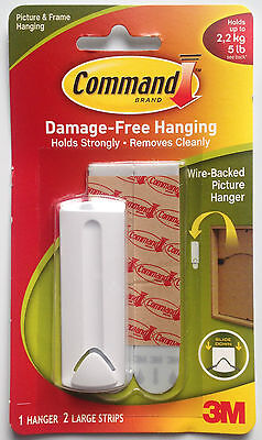 3M Command Wire-Backed Picture & Frame Hanging Kit hold up to 2.2kg -5lb