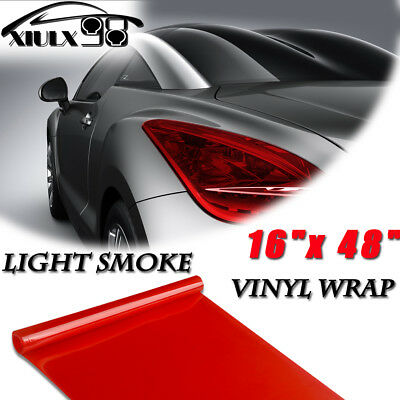 "16"" x 48"" NEW Gloss Red Headlight Taillight Fog Light Tint Film Vinyl Wrap Car"
