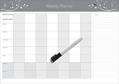 A3Magnetic Weekly  planner + Free  Marker + Free Magnetic Ruler(Australian Made)
