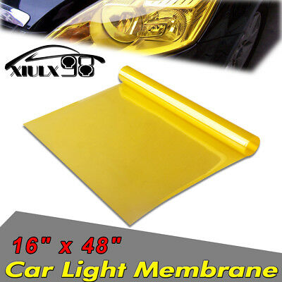 """16"""" x 48"""" Gold Clear Vinyl Film Tint Wrap for Protect Headlights Fog Lights Lamp"""