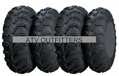 ITP MUD LITE  25x8-12 FRONT 25x10-12 REAR (4) FOUR ATV TIRE SET MADE IN USA NEW