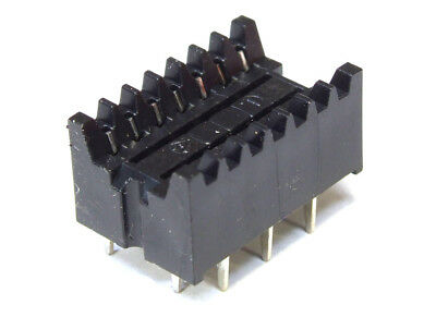 DIL dip-14-pin Zig Zag IC Chip Carrier PCB Socket Adapter/Socket 14-polig Tht