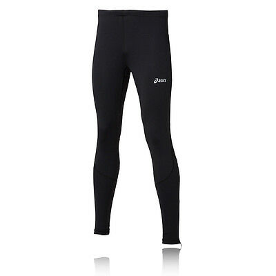 Asics Mens Black Lightweight Breathable Sports Running Long Tights Bottoms Pants