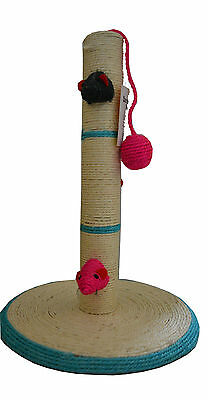 Cat Scratching  Pole Activity Centre Play Toys Climbing Sisal Mouse and ball