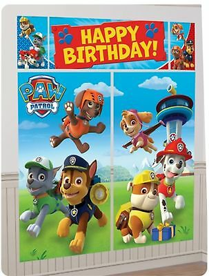 6ft Paw Patrol Birthday Party Giant Scene Setter Banner Decoration