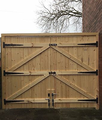 Wooden Driveway Gates 6Ft High Straight Top