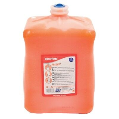 DEB Swarfega Orange 4Ltr (Qty 4) Industrial Hand Cleaning, Factory, Workshop