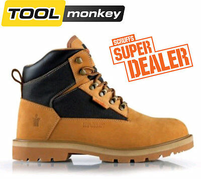 Scruffs Twister Pro Safety Work Boots Steel Toe Cap Tan with Black Detailing