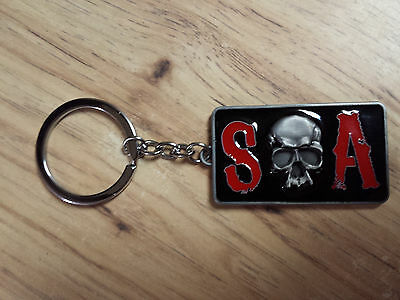 Sons Of Anarchy SOA Skull Key Chain Great TV Show FX Biker Samcro