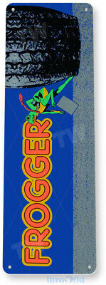 TIN SIGN Frogger Arcade Shop Game Room Bar Marquee Console Metal Décor B062
