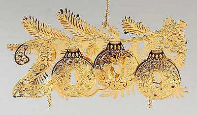 23K Gold Plated Danbury Mint 2000 Christmas Ornament Date 2000