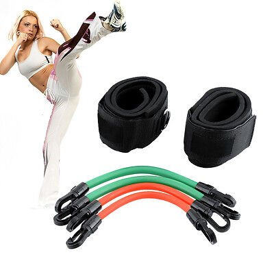 Power Kick Training Boxing Thai Karate Running Resistance Kinetic Tube Bands