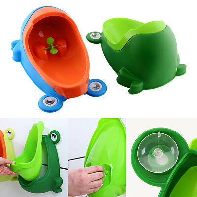 Frog-shaped Potty Toilet Kids Urinal Boys Standing Pee Trainer Bathroom Cartoon