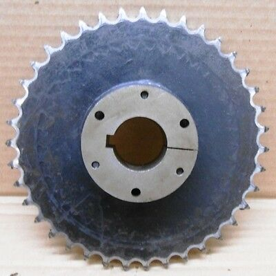"Martin Sprocket, 50Sds39H, 2-1/8"" Bore, With Sds 1-1/2 Bushing, 1-1/2"" Bore"