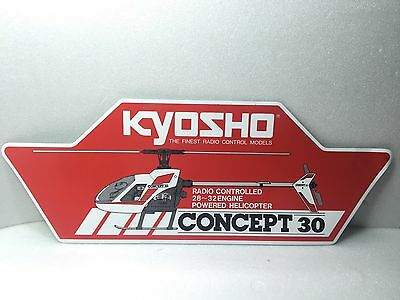 Kyosho Concept 30 helicopter Decal sticker pegatina adesivo elicottero