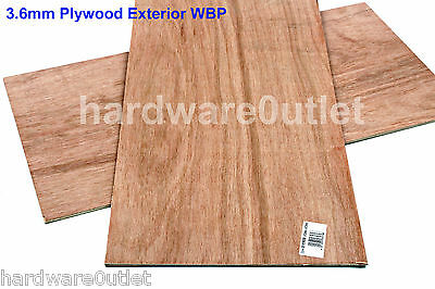 """3.6mm PLYWOOD Sheet Board 600 x 300 mm 24"""" x 12"""" Exterior WPB Excellent Quality"""