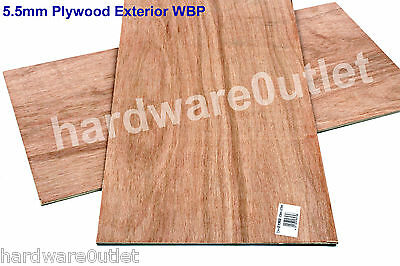 """5.5 mm PLYWOOD 600 x 300 mm (24"""" x 12"""") Exterior WPB Grade - Excellent Quality"""