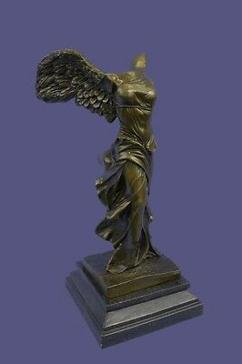 Nike of Samothrace Bronze Sculpture Louvre Art Winged Victory Angel Bust Statue