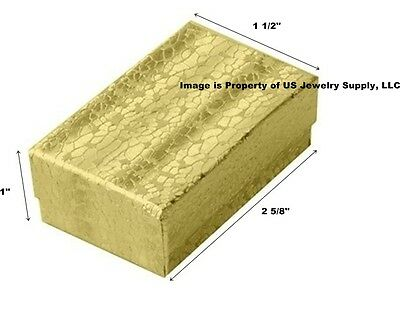 Wholesale Lot 1000 Gold Cotton Fill Jewelry Display Packaging Gift Boxes 2 5/8""