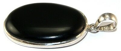 Sterling Silver Polished Onyx Pendant Jewellery PEND451