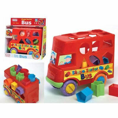 Fun TIme Push Along Bus Shape Sorter for 12m+