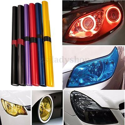 16''x 48'' Car Smoke Taillight Fog Headlight PVC Foil Tint Vinyl Film Wrap Cover
